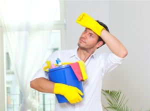 man-cleaning